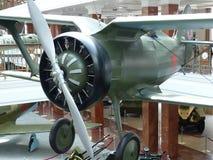 上部Pyshma,俄罗斯- 2016年7月02日:苏联战机I-15 -军用设备博物馆的展览  库存照片