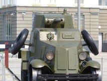 上部Pyshma,俄罗斯- 2016年7月2日:轻的防弹车BA-3A在军用设备博物馆  免版税库存照片