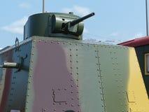 上部Pyshma,俄罗斯- 2016年7月02日:Vagon装甲的MBV-2样品1935年 免版税库存图片