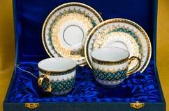 泰国样式纪念品微型茶具 库存照片