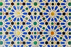 给上釉的瓦片,城堡王宫在塞维利亚,西班牙 免版税库存图片