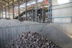 上铜金属矿石工厂生产 免版税库存照片