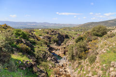 登上阿尔贝尔和岩石看法  以色列 免版税库存照片