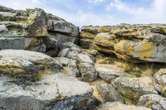上面其中一红砂岩在Papago公园在坦佩 库存图片