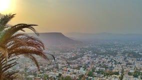 从上面的印度城市 免版税库存照片