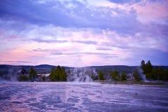 上面的喷泉水池 图库摄影