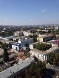从上面的城市 免版税库存照片