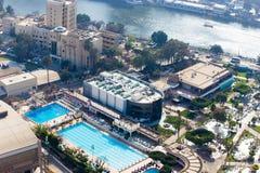 从上面的开罗 免版税库存照片