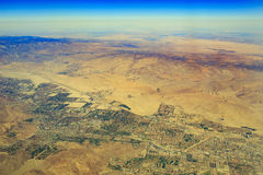 从上面的棕榈Desert 图库摄影
