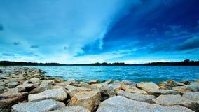 上面的皮尔斯水库 免版税库存照片