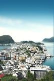 从上面的看法在Alesund挪威 免版税图库摄影