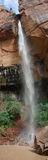上面的绿宝石在Zion国家公园落 库存图片