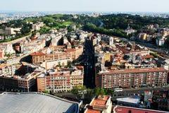 从上面看的Trastevere地区 库存照片