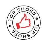 上面穿上鞋子不加考虑表赞同的人 库存照片