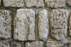 从上面被看见的古老石路面 免版税图库摄影