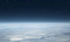从上面被看见的行星地球 库存图片