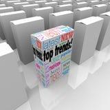 上面趋向最佳的产品最普遍的新的热的项目商品 免版税库存照片