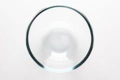 从上面直接玻璃碗 免版税库存照片