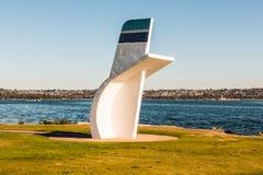 水上飞机传奇,比尔Muncey,纪念在圣地亚哥 库存照片