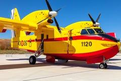 水上飞机加拿大人的CL-215 库存照片
