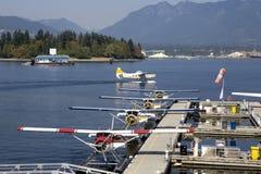 水上飞机在温哥华港口 免版税图库摄影