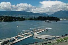 水上飞机机场, BC温哥华加拿大 图库摄影