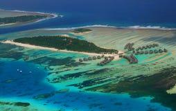 从水上飞机,马尔代夫的看法 库存照片