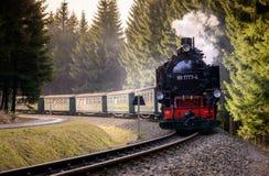 上维森塔尔,德国- 4月02 :Fichtel历史火车  免版税库存照片