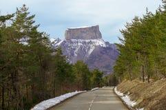 登上Aiguille的路 免版税库存照片