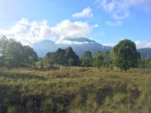 登上Batur火山 图库摄影