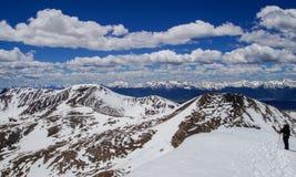 登上Bierstadt山顶 图库摄影