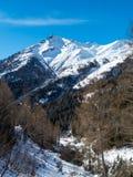 登上Blauspitze在冬天 库存照片