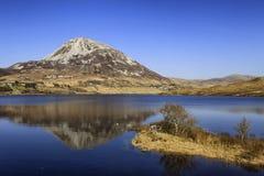 登上Errigal, Co Donegal,爱尔兰 免版税库存图片