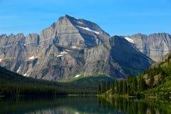 登上Gould冰川国家公园 库存照片