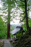 登上haguro,神圣的地方 库存照片