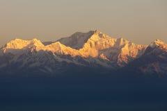 登上Kanchenjunga 图库摄影