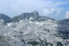 登上Krn,朱利安阿尔卑斯山,斯洛文尼亚 库存图片