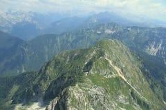 登上Lemez,朱利安阿尔卑斯山,斯洛文尼亚 免版税库存图片