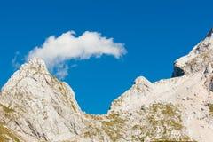 登上Mangart,斯洛文尼亚 库存照片