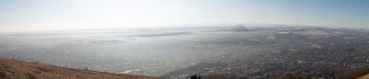 从登上Mashuk的顶端看法 图库摄影