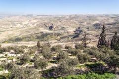 登上Nebo在约旦 库存照片