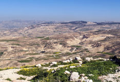 登上Nebo在约旦 免版税图库摄影