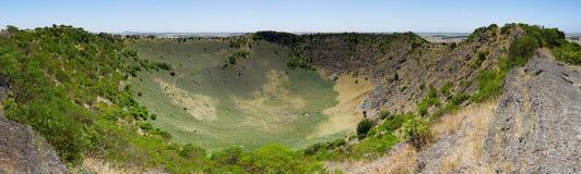 登上Schank火山口全景,南澳大利亚 库存照片