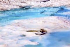 登上Shuksan蓝色雪水池抽象艺术家点华盛顿 库存图片