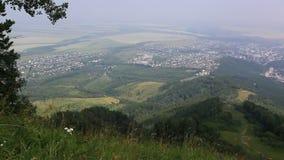 从登上Tserkovka的全景balneological手段Belokurikha。阿尔泰边疆区。 股票视频