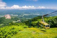 登上Usu山顶的索道,北海道,日本