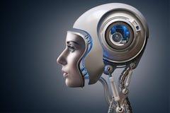 下一代靠机械装置维持生命的人 图库摄影