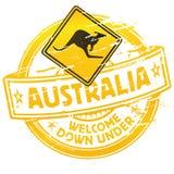 下下来澳大利亚欢迎 免版税库存照片