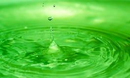 滴下下来从房子的屋顶在散开下做水 免版税库存图片