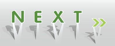 下个字的例证 免版税库存图片